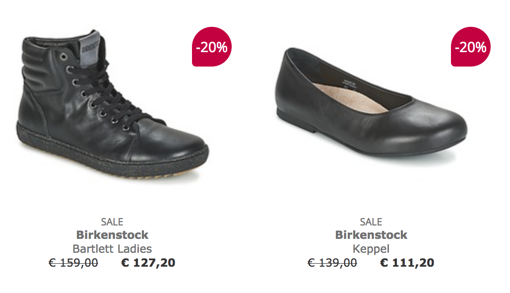 Spartoo Birkenstock aanbieding met 20% korting!